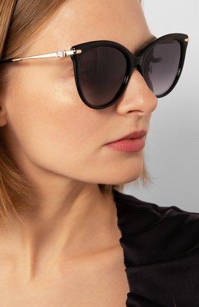 Женские солнцезащитные очки MAX MARA черного цвета, арт. SHINE II 807   Фото 2