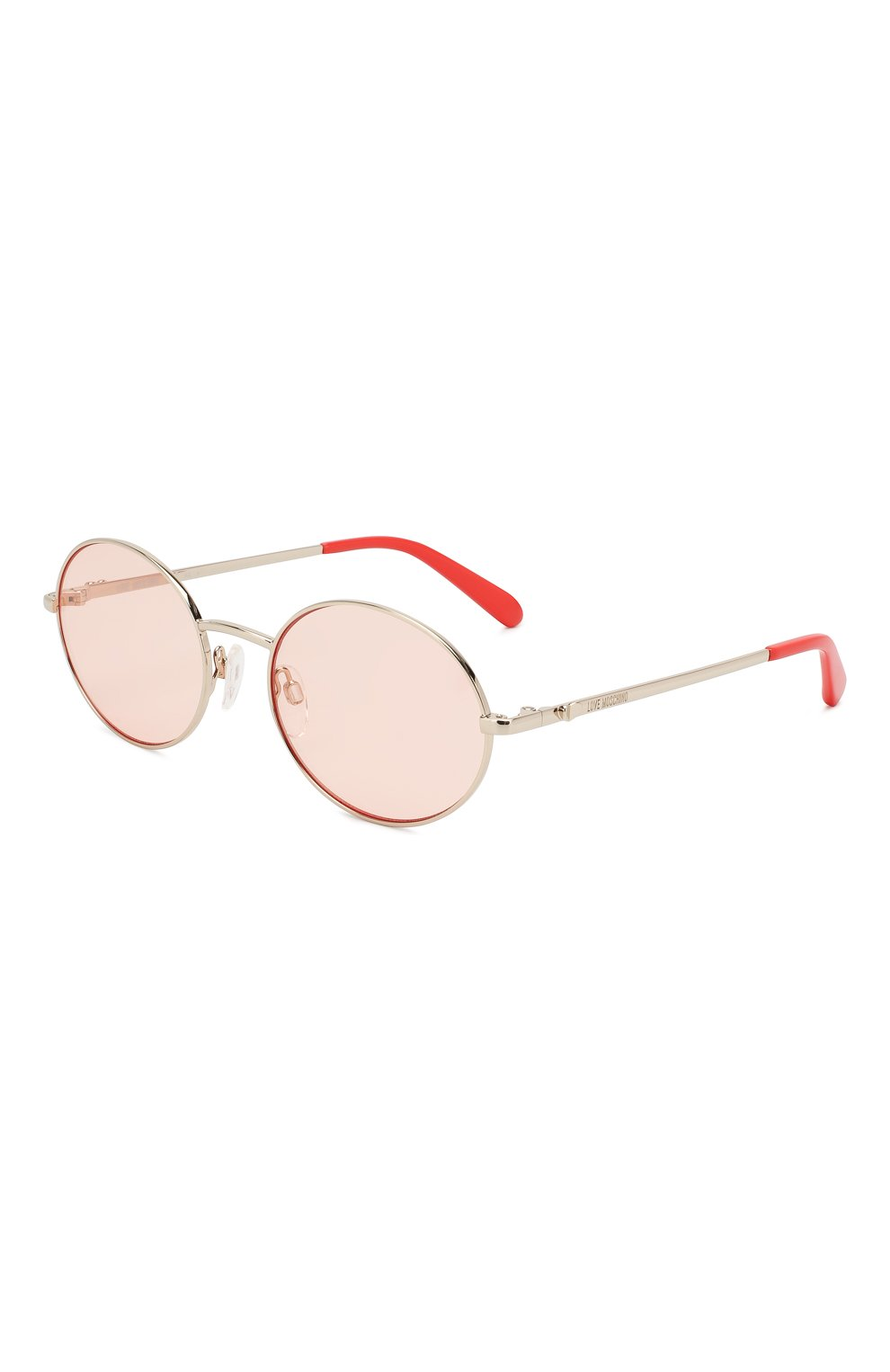 Женские солнцезащитные очки MOSCHINO светло-розового цвета, арт. M0L013 1N5 | Фото 1