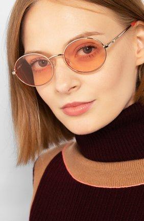 Женские солнцезащитные очки MOSCHINO светло-розового цвета, арт. M0L013 1N5 | Фото 2
