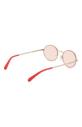 Женские солнцезащитные очки MOSCHINO светло-розового цвета, арт. M0L013 1N5 | Фото 4
