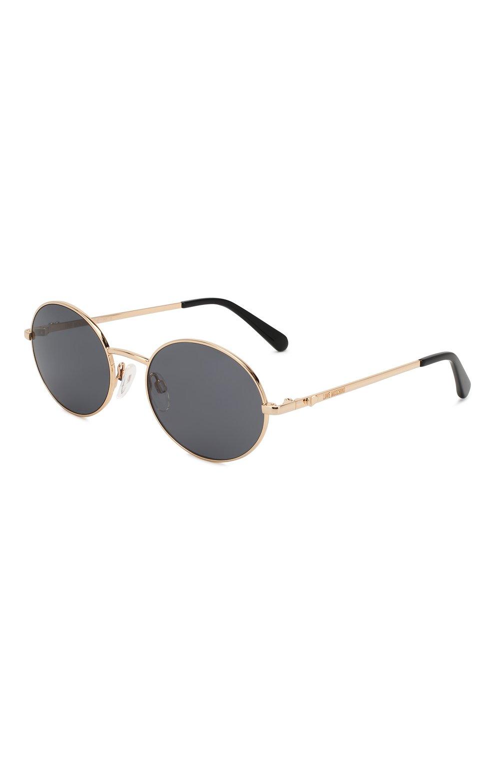 Женские солнцезащитные очки MOSCHINO черного цвета, арт. M0L013 KB7   Фото 1