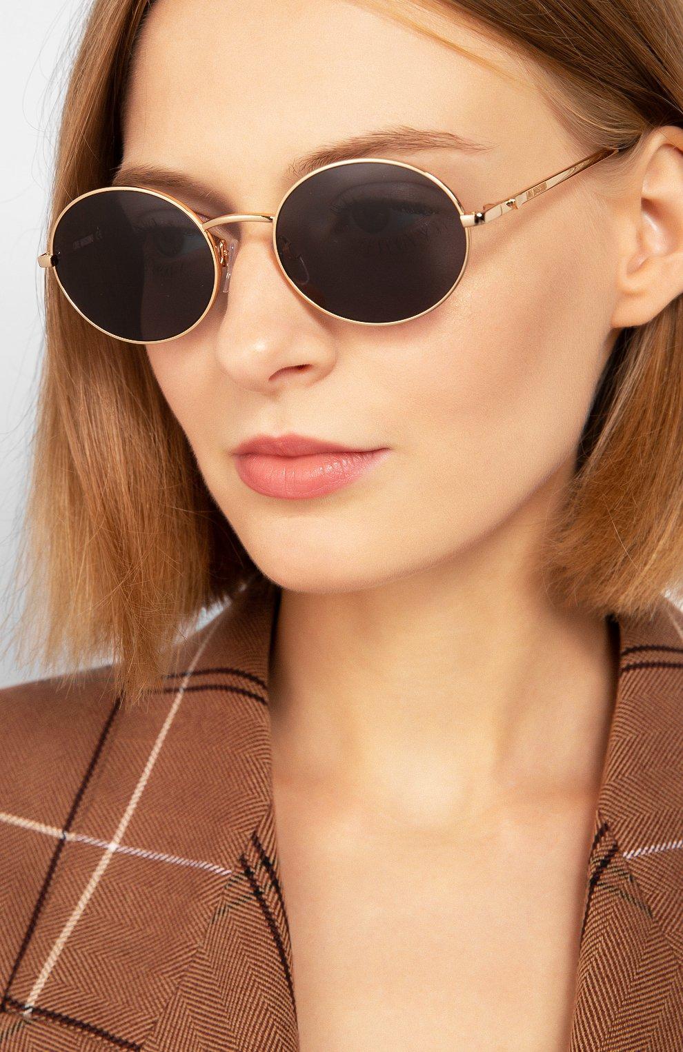 Женские солнцезащитные очки MOSCHINO черного цвета, арт. M0L013 KB7   Фото 2