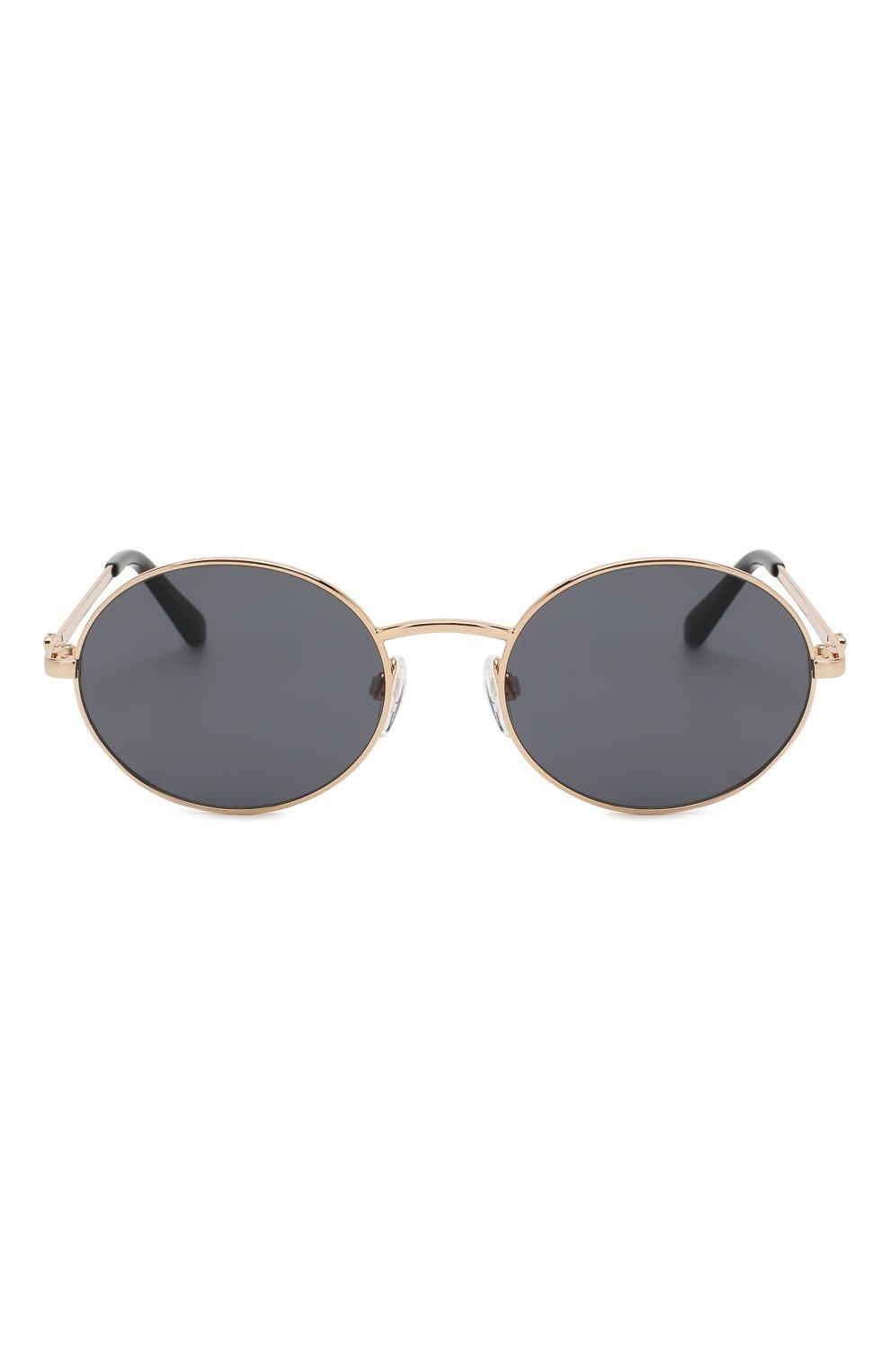 Женские солнцезащитные очки MOSCHINO черного цвета, арт. M0L013 KB7   Фото 3