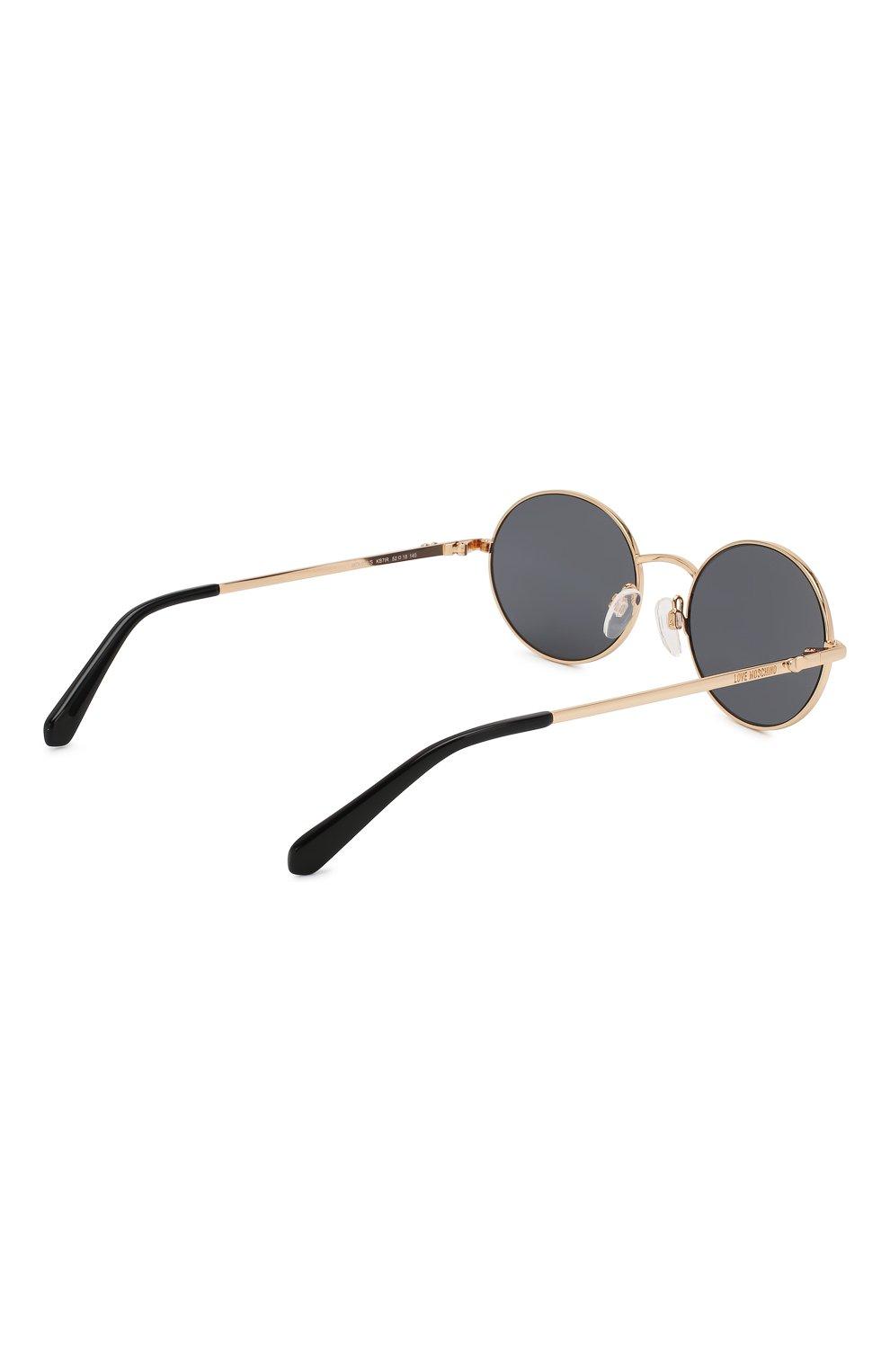 Женские солнцезащитные очки MOSCHINO черного цвета, арт. M0L013 KB7   Фото 4