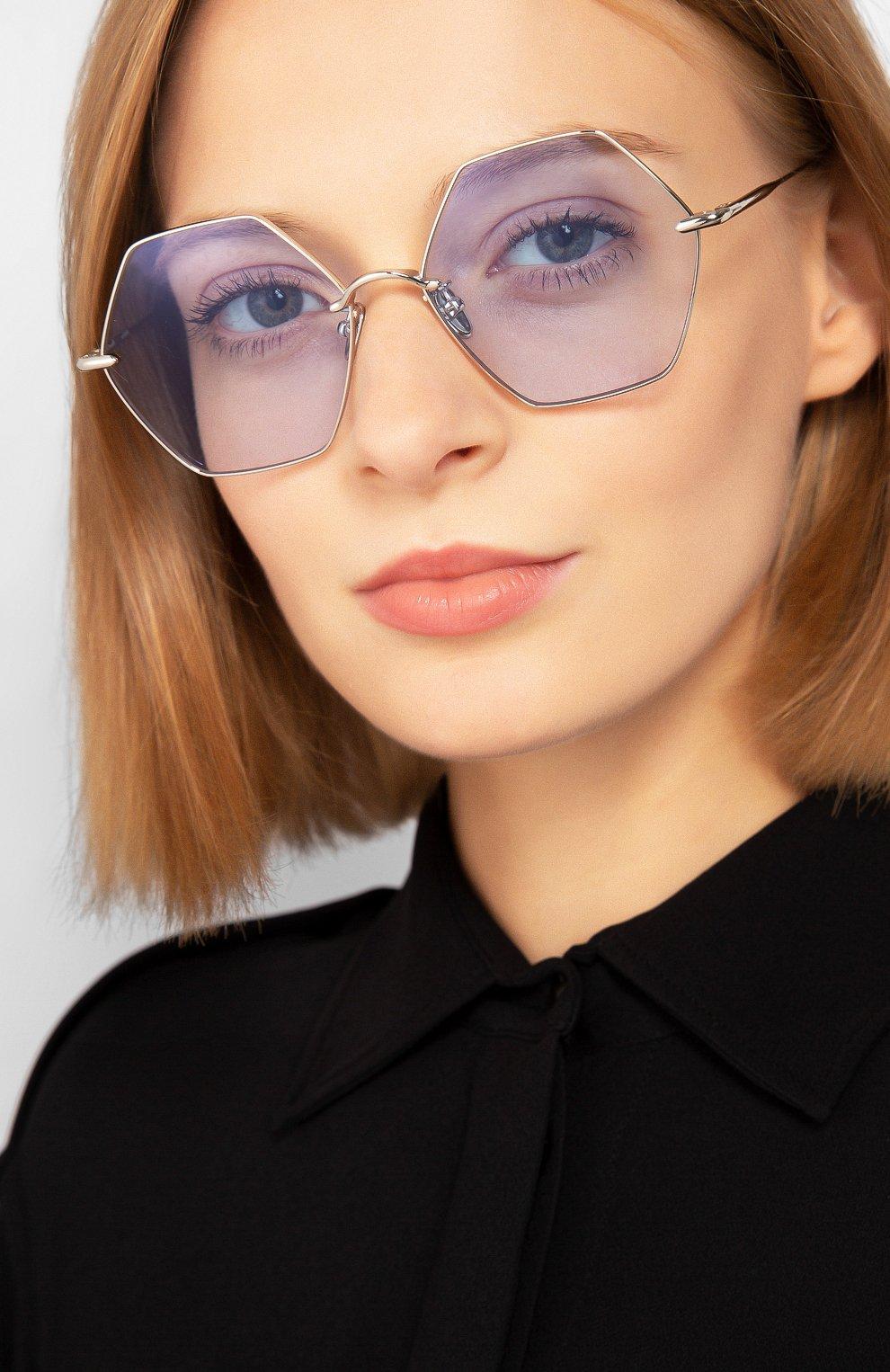 Женские солнцезащитные очки EQUE.M голубого цвета, арт. CALIF0RNIA SIGNAL/SS | Фото 2