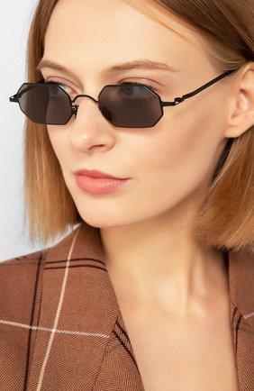 Женские солнцезащитные очки MAISON MARGIELA черного цвета, арт. MMCRAFT 004/002   Фото 2