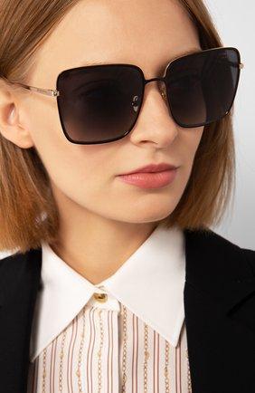 Женские солнцезащитные очки TOM FORD черного цвета, арт. TF739 01D | Фото 2 (Статус проверки: Проверена категория; Тип очков: С/з; Очки форма: Квадратные; Оптика Гендер: оптика-женское)