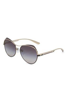 Женские солнцезащитные очки BVLGARI черного цвета, арт. 6120-20338G | Фото 1