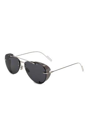 Мужские солнцезащитные очки DIOR черного цвета, арт. DI0RCHR0MA1 010 2K | Фото 1