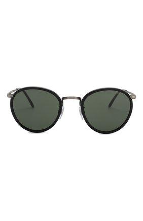 Мужские солнцезащитные очки GIORGIO ARMANI черного цвета, арт. 101M-326031 | Фото 2 (Статус проверки: Проверена категория; Тип очков: С/з; Очки форма: Круглые; Оптика Гендер: оптика-мужское)