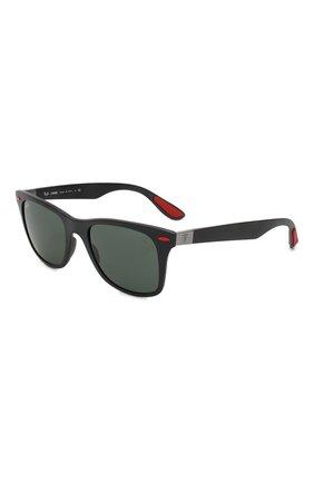 Мужские солнцезащитные очки RAY-BAN черного цвета, арт. 4195M-F60271 | Фото 1