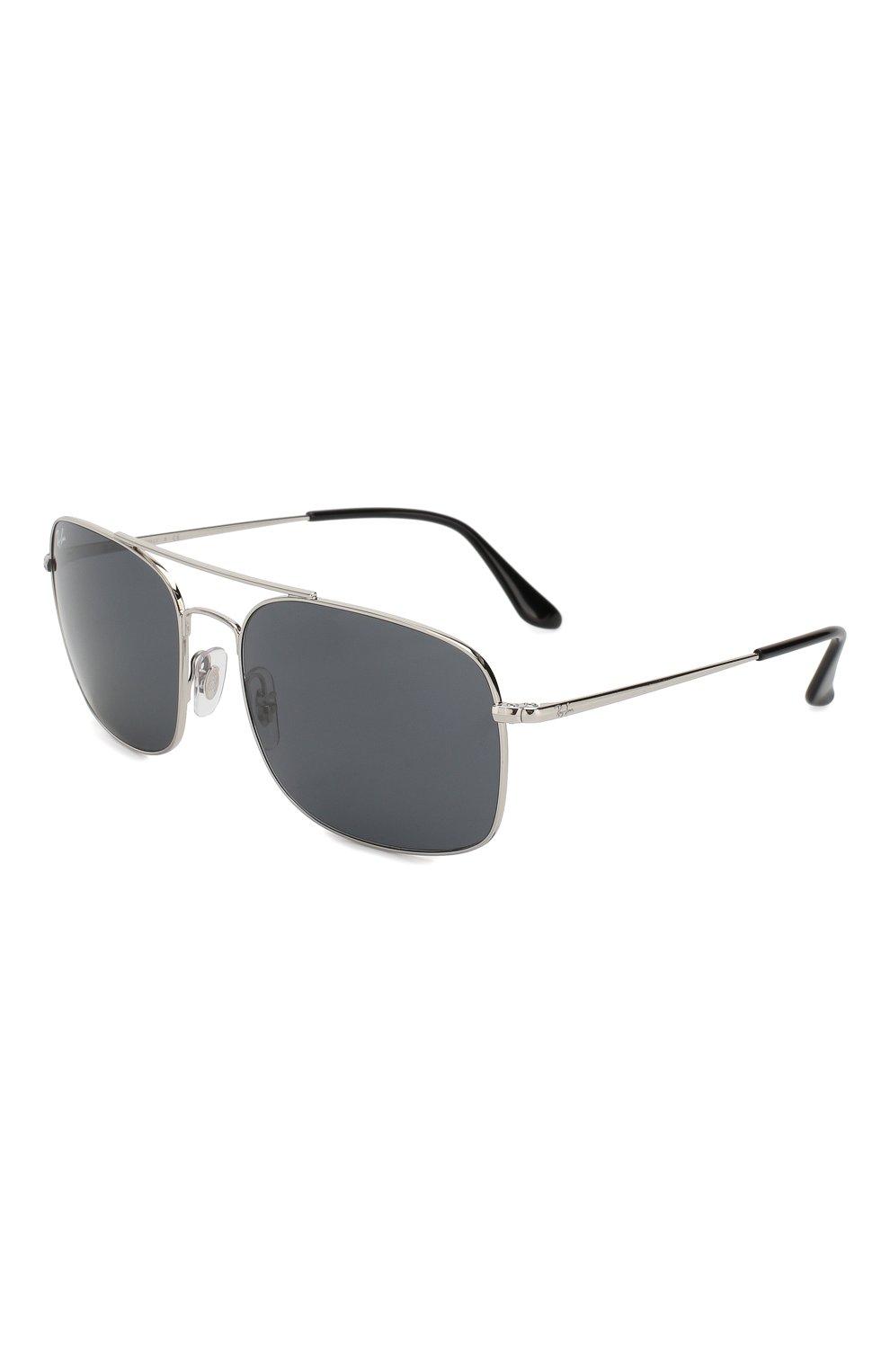Мужские солнцезащитные очки RAY-BAN серебряного цвета, арт. 3611-003/R5   Фото 1