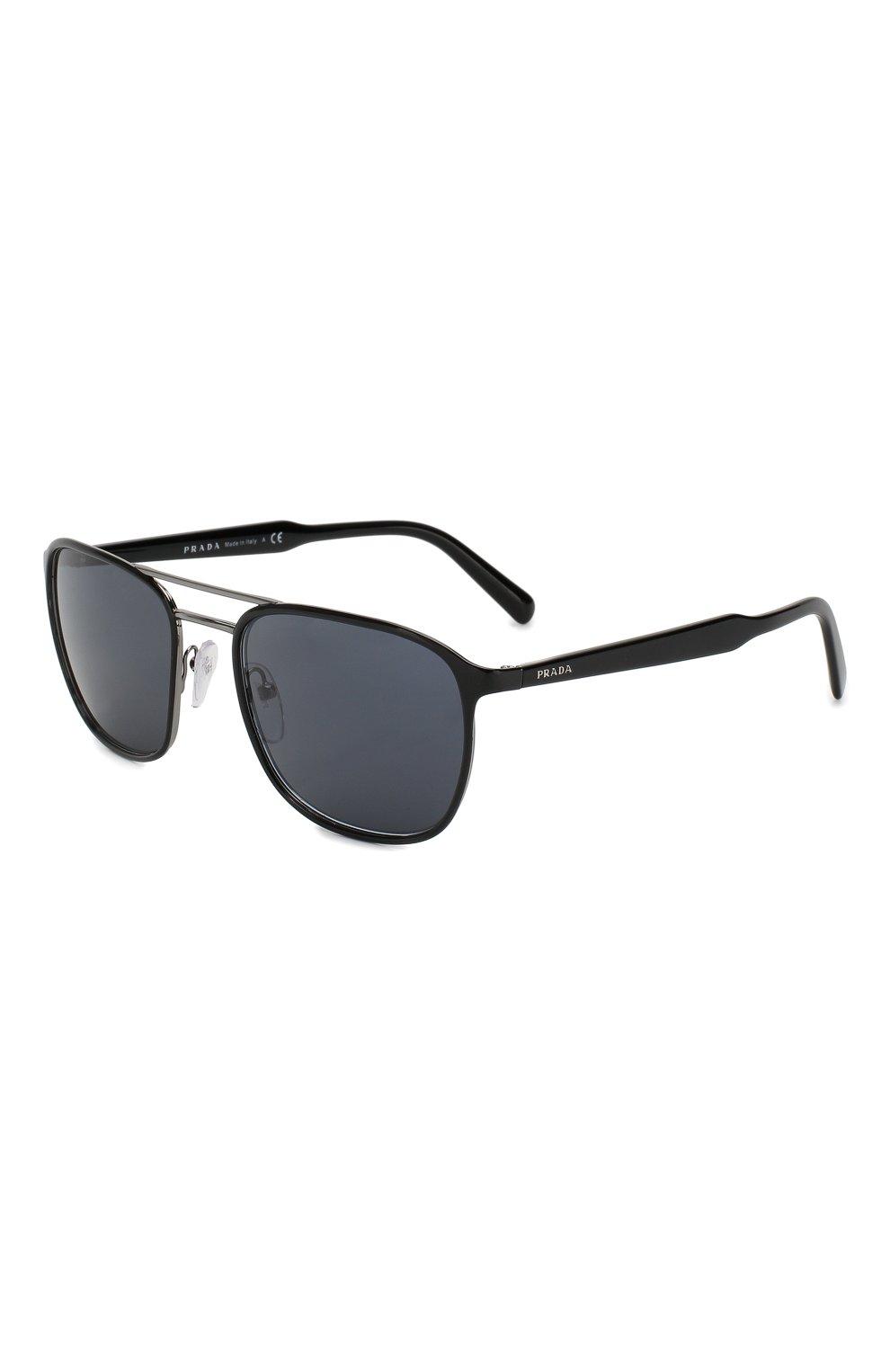 Женские солнцезащитные очки PRADA черного цвета, арт. 75VS-YDC0A9   Фото 1