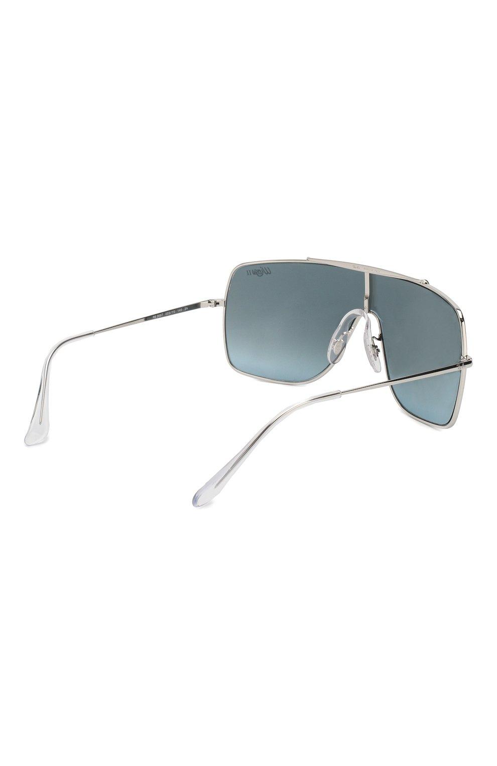 Мужские солнцезащитные очки RAY-BAN серебряного цвета, арт. 3697-003/Y0 | Фото 3