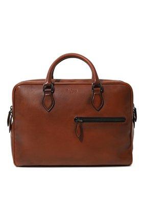 Мужская кожаная сумка для ноутбука BERLUTI коричневого цвета, арт. M167213 | Фото 1