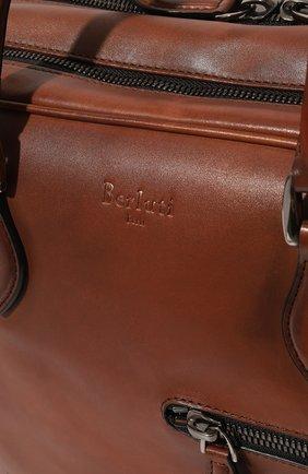 Мужская кожаная сумка для ноутбука BERLUTI коричневого цвета, арт. M167213 | Фото 2