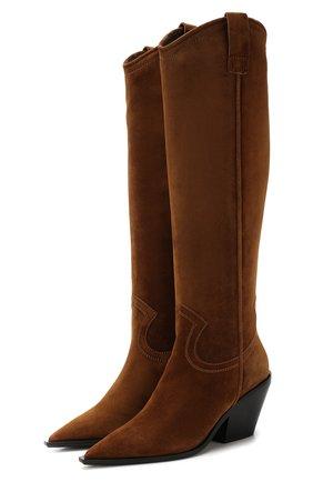 Женские замшевые сапоги BALDAN коричневого цвета, арт. 2616/CAM0SCI0NE | Фото 1