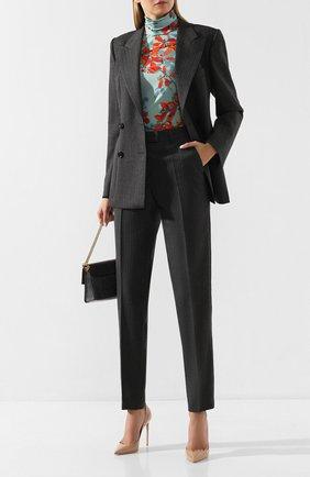 Женские шерстяные брюки DRIES VAN NOTEN серого цвета, арт. 192-10933-8182 | Фото 2