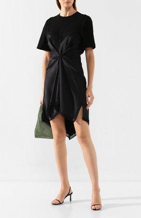 Женские кожаные босоножки ALEXANDER WANG черного цвета, арт. 30C219S018 | Фото 2