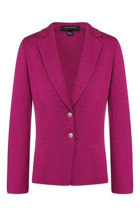 Женский жакет из смеси шерсти и вискозы ST. JOHN фиолетового цвета, арт. K61W053 | Фото 1