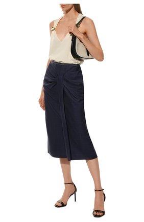 Женская юбка из смеси шерсти и шелка ROLAND MOURET синего цвета, арт. PW19/S0686/F0296 | Фото 2