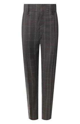 Женские шерстяные брюки ISABEL MARANT ETOILE светло-серого цвета, арт. PA0718-19A017E/N0AH   Фото 1