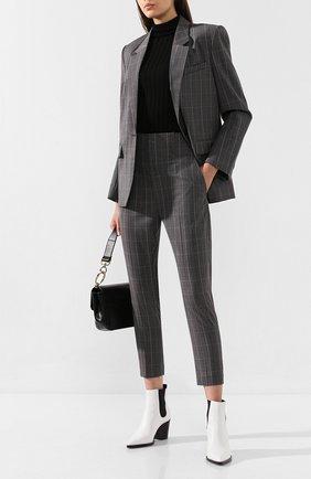 Женские шерстяные брюки ISABEL MARANT ETOILE светло-серого цвета, арт. PA0718-19A017E/N0AH   Фото 2