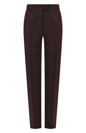 Женские шерстяные брюки DRIES VAN NOTEN бордового цвета, арт. 192-10933-8229 | Фото 1