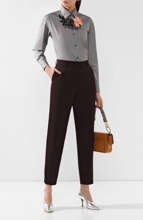 Женские шерстяные брюки DRIES VAN NOTEN бордового цвета, арт. 192-10933-8229 | Фото 2