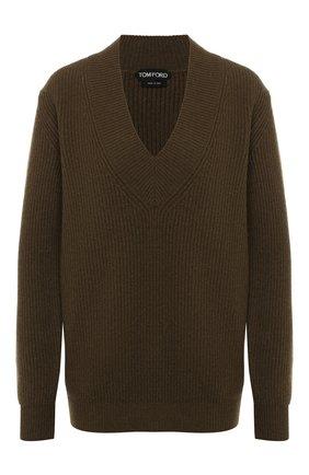 Женский кашемировый свитер TOM FORD хаки цвета, арт. MAK920-YAX225 | Фото 1