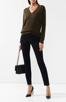 Женский кашемировый свитер TOM FORD хаки цвета, арт. MAK920-YAX225 | Фото 2