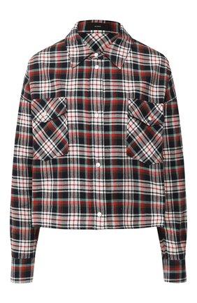 Женская хлопковая рубашка ALANUI темно-синего цвета, арт. LWGA002E19061007 | Фото 1