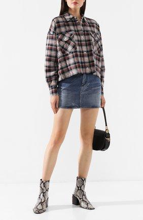 Женская хлопковая рубашка ALANUI темно-синего цвета, арт. LWGA002E19061007 | Фото 2