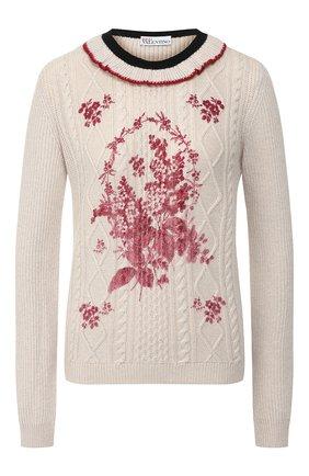 Женская пуловер REDVALENTINO белого цвета, арт. SR0KCB80/4ME | Фото 1