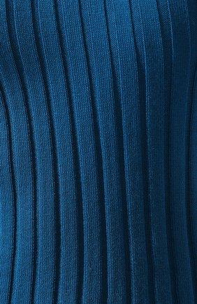 Женский шерстяной пуловер ACT N1 бирюзового цвета, арт. PFK1911   Фото 5 (Материал внешний: Шерсть; Рукава: Длинные, С открытыми плечами; Длина (для топов): Стандартные; Статус проверки: Проверено, Проверена категория; Женское Кросс-КТ: Пуловер-одежда; Стили: Романтичный, Кэжуэл)