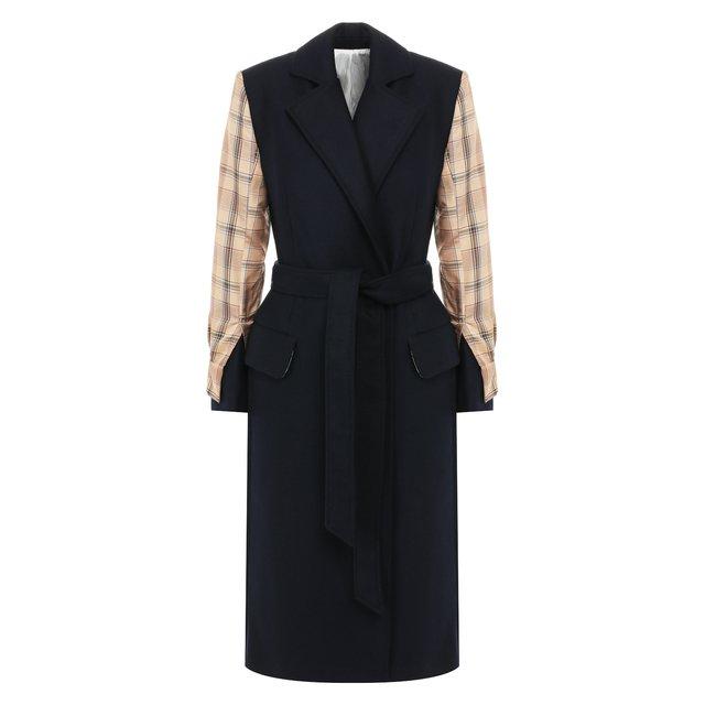Пальто из смеси шерсти и кашемира Act n1