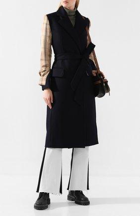 Женское пальто из смеси шерсти и кашемира ACT N1 черного цвета, арт. PFC1907   Фото 2 (Материал внешний: Шерсть; Статус проверки: Проверена категория, Проверено; Длина (верхняя одежда): Длинные; Рукава: Длинные; Материал подклада: Вискоза; 1-2-бортные: Однобортные)