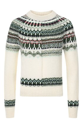 Женская шерстяной свитер M MISSONI белого цвета, арт. 2DN00126/2K0036 | Фото 1