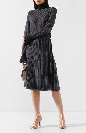 Женская юбка VICTORIA, VICTORIA BECKHAM темно-синего цвета, арт. KSVV 018 PAW19 VISC0SE BLEND | Фото 2