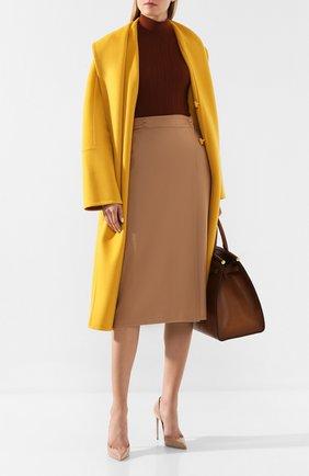Женская кашемировая юбка LORO PIANA бежевого цвета, арт. FAI8556   Фото 2