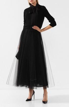Женская юбка VALENTINO черного цвета, арт. SB0RA1Y31ED | Фото 2