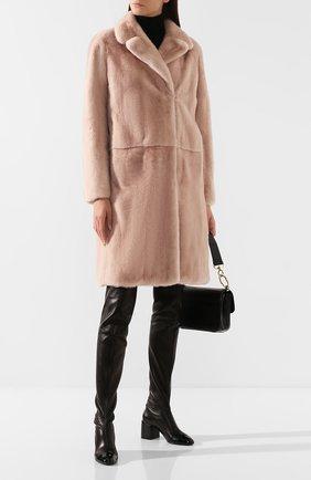 Женская шуба из меха норки YVES SALOMON светло-розового цвета, арт. 20WYM39000VFLX | Фото 2