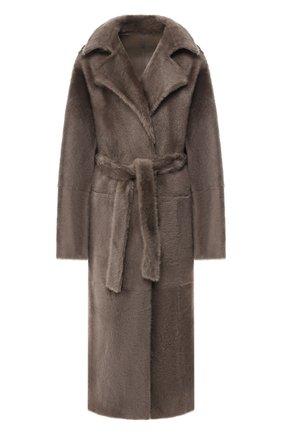 Женская двусторонняя дубленка YVES SALOMON серого цвета, арт. 20WYM60620MERL | Фото 1