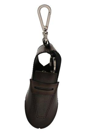 Мужской кожаный брелок BERLUTI коричневого цвета, арт. X184559 | Фото 1