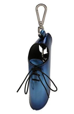 Мужской кожаный брелок BERLUTI синего цвета, арт. X184557 | Фото 1
