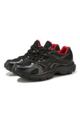 Мужские текстильные кроссовки vetements x reebok spike runner 200 VETEMENTS черного цвета, арт. UAH20RE1/M | Фото 1