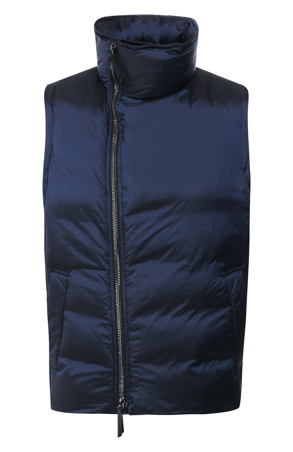 Мужской пуховый жилет GIORGIO ARMANI темно-синего цвета, арт. 9WGGK014/T0189 | Фото 1