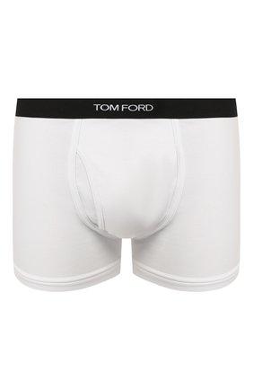 Мужские хлопковые боксеры TOM FORD белого цвета, арт. T4LC30040   Фото 1