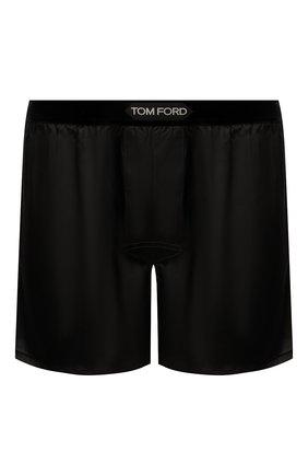 Мужские шелковые боксеры TOM FORD черного цвета, арт. T4LE40010 | Фото 1