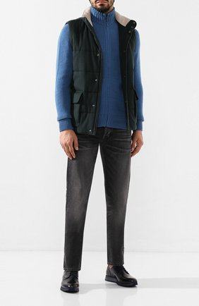 Мужской кожаные дерби ZILLI темно-синего цвета, арт. MDS-T066/002 | Фото 2